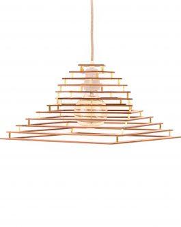 Lampa sufitowa DO SYPIALNI ze sklejki z mosiężnymi śrubami