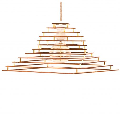 drewniana lampa do sypialni