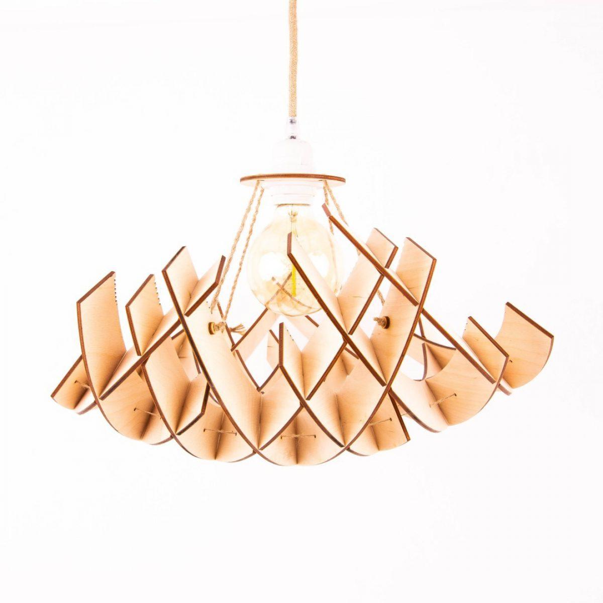 lampa drewniana nowoczesna
