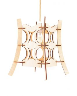 Designerska nowoczesna lampa chińska wisząca z drewna