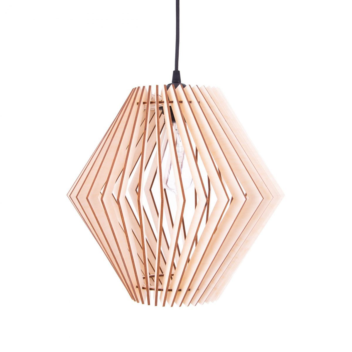 lampa sufitowa ze sklejki