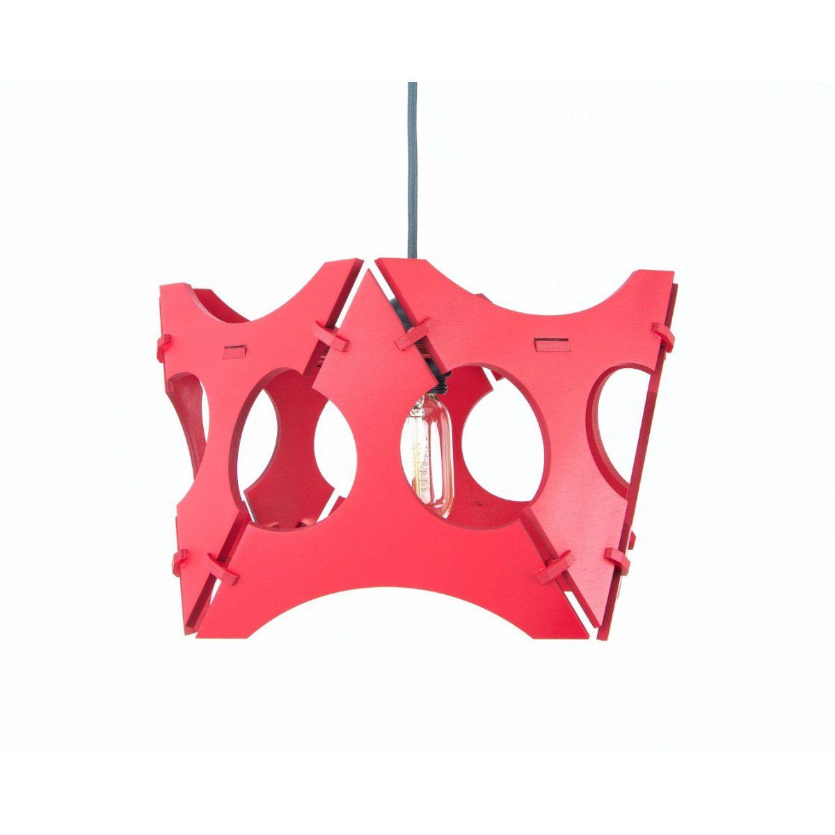 lampa ze sklejki do salonu