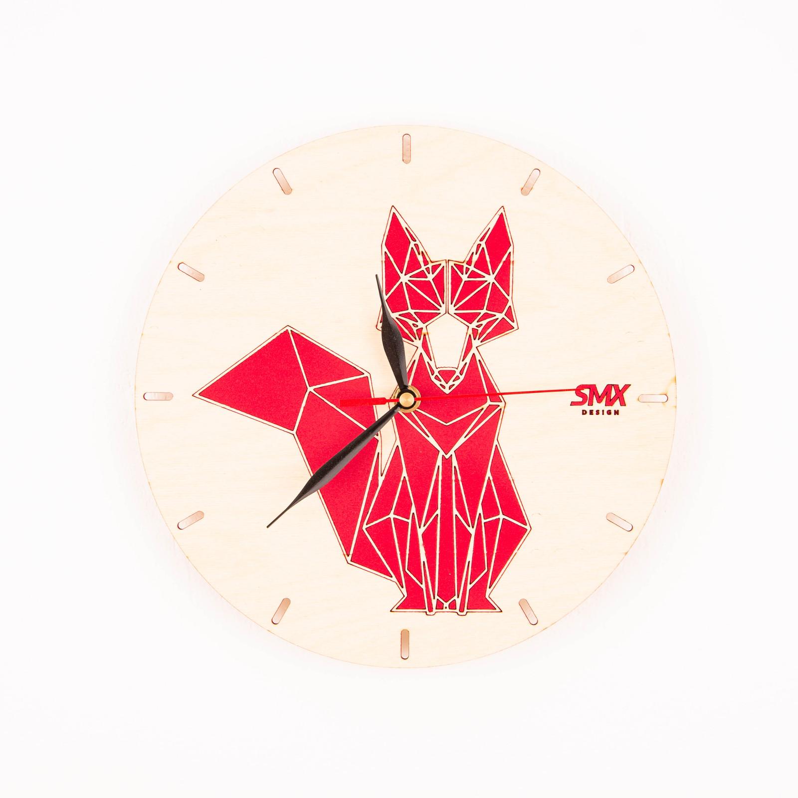 zegar geometryczny ze zwierzętami