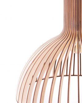 Lampa ze sklejki do salonu w naturalnym kolorze