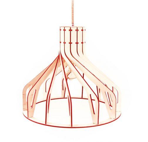lampa sufitowa bordowa
