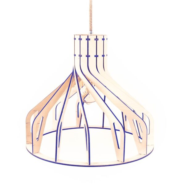 kolorowa drewniana lampa