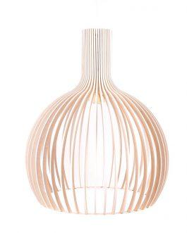 Biała lampa sufitowa w kształcie kuli do SALONU