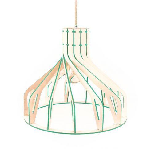 miętowa lampa wisząca