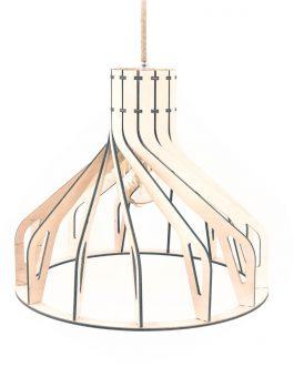 KOLOROWA drewniana lampa sufitowa do SALONU