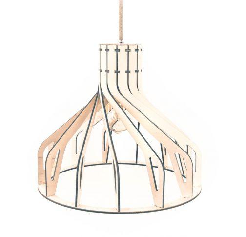 drewniana szara lampa