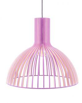 Fioletowa lampa sufitowa ze sklejki – SKANDYNAWSKA