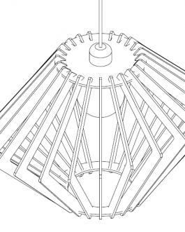 Lampa drewniana sufitowa – NOWOCZESNY STYL