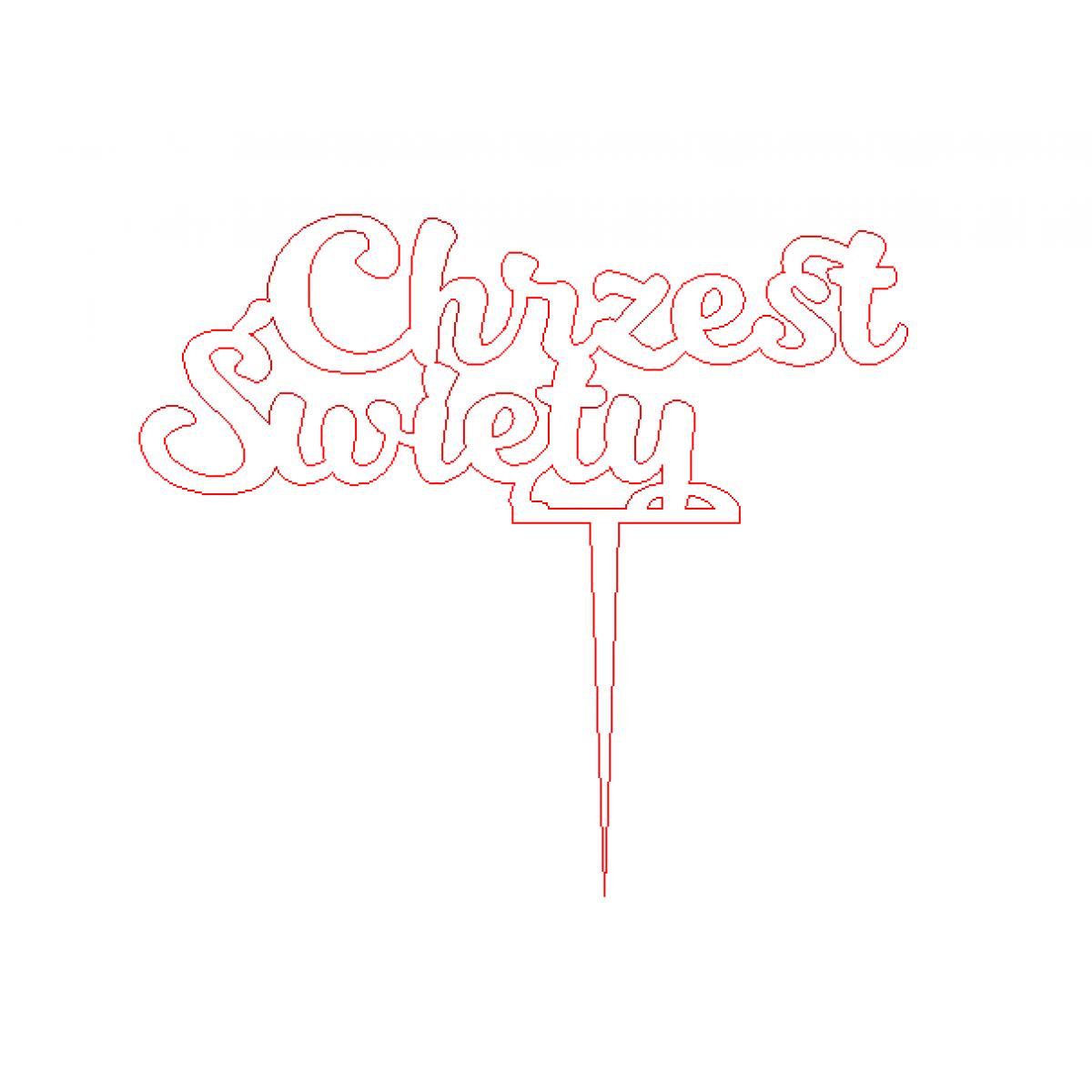 topper na tort chrzest