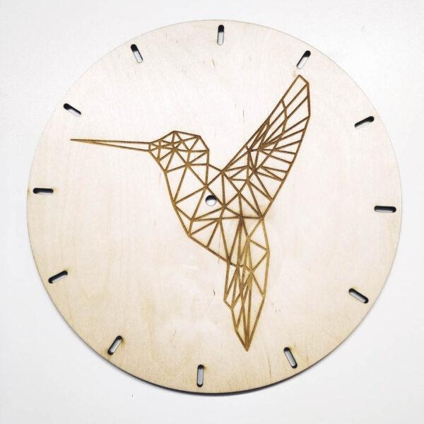 zegar z grawerem zwierząt