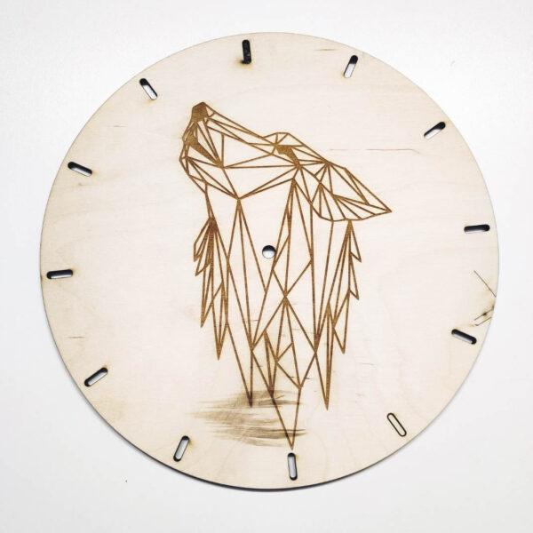 drewniany zegar ścienny WILK
