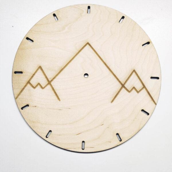 Zegar drewniany z grawerem