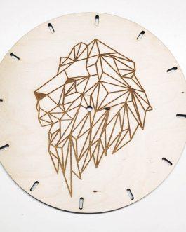 Zegar na ścianę drewniany z LWEM – zegar ścienny ze sklejki