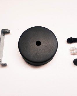 Podsufitka metalowa do lampy CZARNA płaska maskownica 80mm