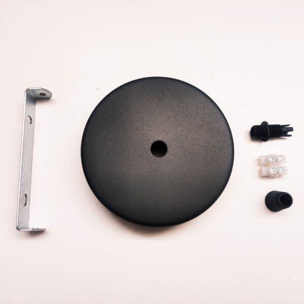 metalowa podsufitka do lampy czarna