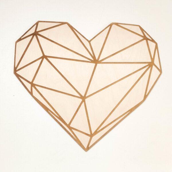 geometryczne serce ozdoba na ścianę