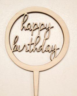 TOPPER na tort – HAPPY BIRTHDAY