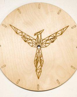 Zegar wiszący na ścianę do kuchni FENIKS z geometrycznym wzorem