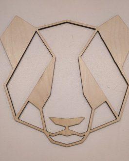 Geometryczne ozdoby na ścianę do sypialni ze sklejki – PANDA