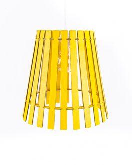 Nowoczesna żółta lampa w stylu skandynawskim do salonu