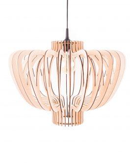 Lampa do kuchni sufitowa z DREWNA- styl SKANDYNAWSKI