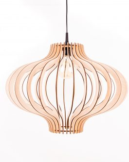 Lampa do przedpokoju ze sklejki do salonu w naturalnym kolorze