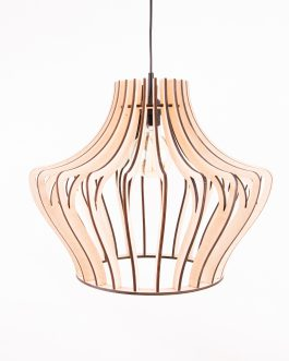 Drewniana lampa LED sufitowa ze sklejki – SKANDYNAWSKA