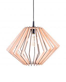 Drewniana lampa DO SALONU ze sklejki w stylu skandynawskim