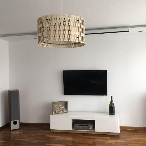 lampa do salonu ze sklejki