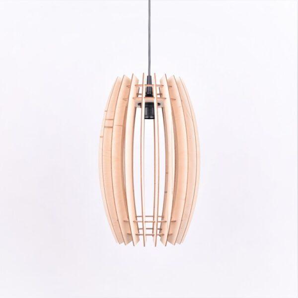 lampa z drewnem