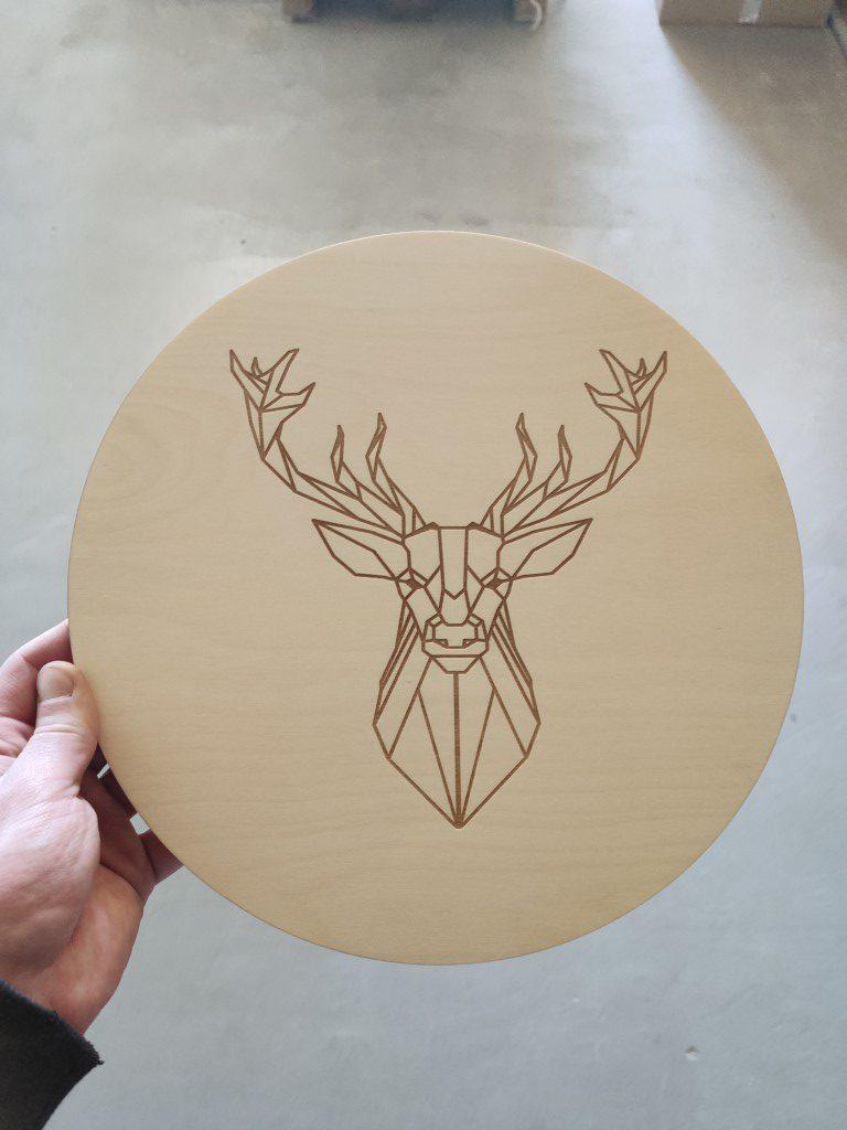jeleń geometryczny